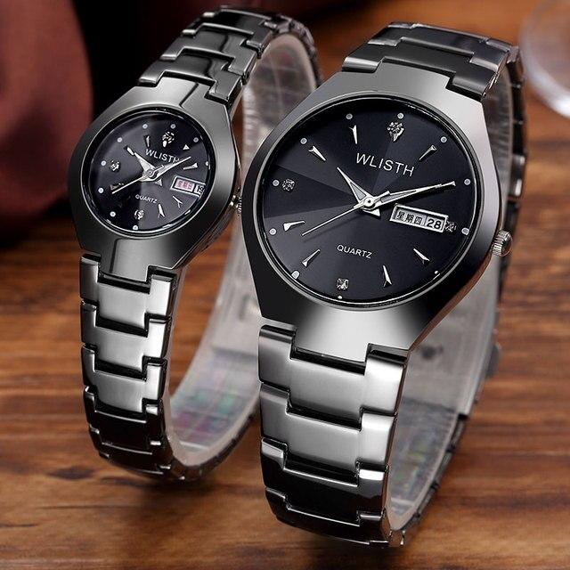 Wlisth amantes reloj mujeres de los hombres fecha reloj 2017 de primeras marcas de lujo de cuarzo relojes de pulsera reloj de cuarzo relogio masculino femenino masculino