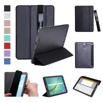 For Samsung Galaxy Tab S3 9.7 T820 T825 T829 Tablet Case Protective shell+TPU edge Flip Hard Back Cover + S Pen Stylus Pouch s style protective tpu back case for samsung galaxy note 3 n9000 white