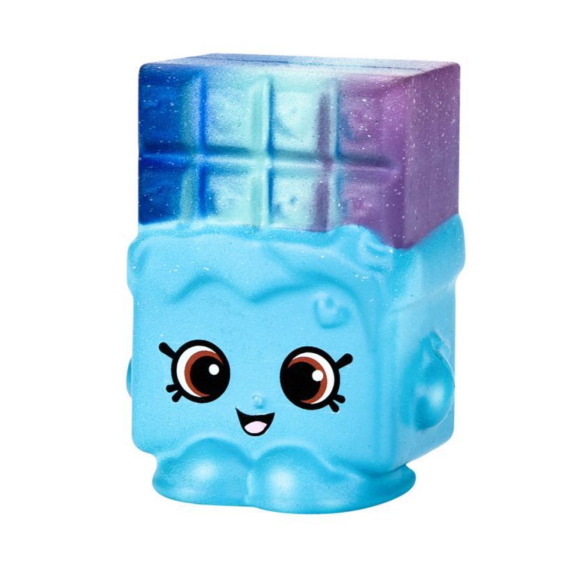 Cute Squishy Toys Stress Reliever 7cm Squishy Cartoon Waffle Cake Foam Squishies Slow Rising Mini Toy 30S8329 drop shipping