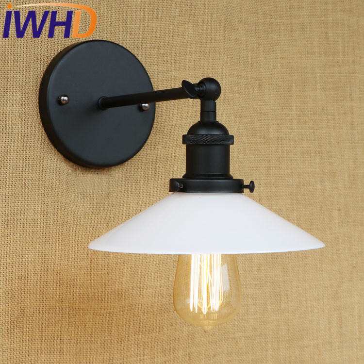 IWHD Retro Loft Style Edison Wall Sconce Iron Glass Vintage Wall Light Fixtures Industrial Wall Lamp Indoor Lighting Lamparas loft industrial rust ceramics hanging lamp vintage pendant lamp cafe bar edison retro iron lighting