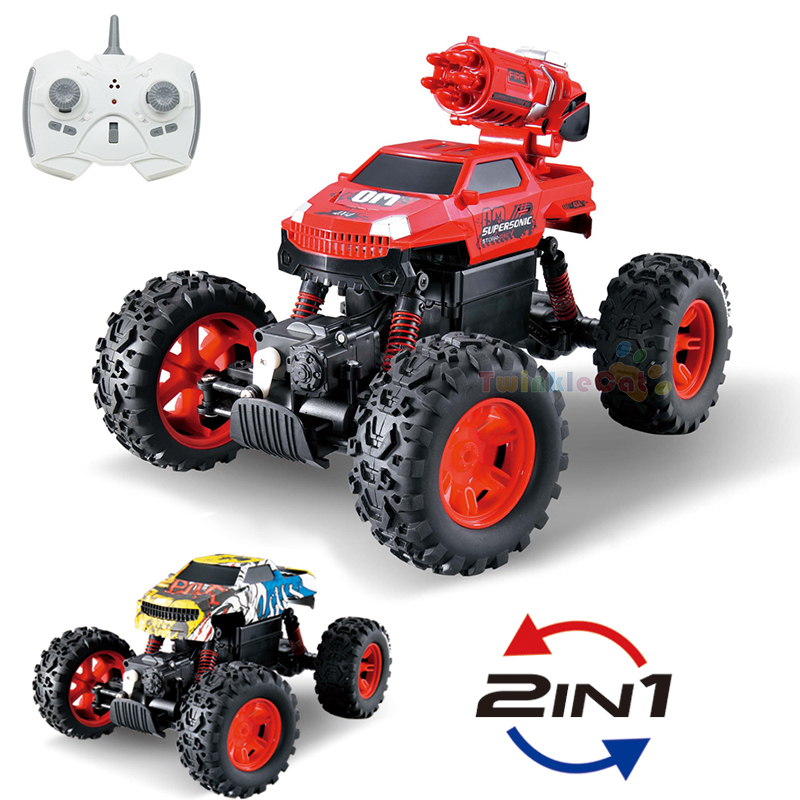 2 In 1 High Quality RC Car 2.4G 1:12 Multi-function RC Climbing Car Radio-controlled Cars Off-Road Buggy Electronic boy Toy kids microgear radio controlled rc grasshopper flying in the air