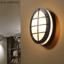 Открытый светодио дный Светильники для крыльца современный настенный светильник потолочный Водонепроницаемый IP65 бра лампы Сад Балкон Светильники AC85~ 265 V
