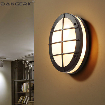 Открытый светодио дный Светильники для крыльца современный настенный светильник потолочный Водонепроницаемый IP65 бра лампы Сад Балкон Све...