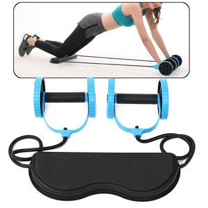 Ab Roller Abdominale Trainer Elasticiteit Fitness Wiel Training Thuis Gym Arm Taille Benen Exerciser Fitness Apparatuur Body Roller