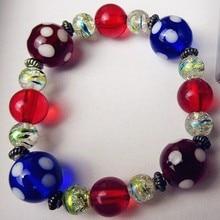 Custom Hand Blown Glass animal Figurine Munuola color Easter egg creative Bracelet accessories jewelry birthday party gift