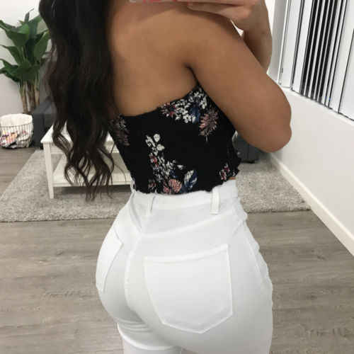 3ae828f29ae ... Fashion Casual Women Ladies Tank Tops Off Shoulder Elastic Tube Tops  Strapless Bandeau Crop Top Shirt ...