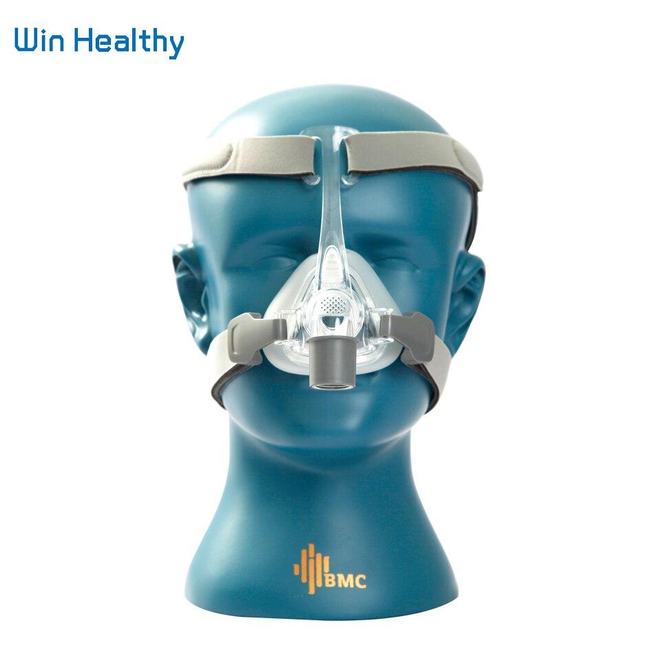 BMC NM4 носовая маска с головным убором и SML 3 размера силиконовая гелевая Подушка для CPAP & Auto CPAP сна Храп апноэ Здоровье и красота