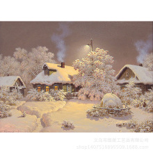 Farmhouse Snow House Diamond Painting Diy Embroidered Cross Embroidery Round / Square Full