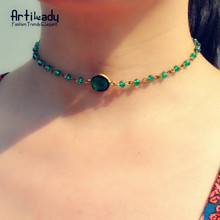 crystal necklace party choker