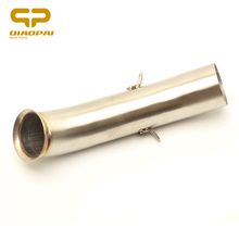 Motorcycle Exhaust Mid tube Link Pipe Slip on Connect Pipe Steel For KTM DUKE 390 250 Duke RC 390 RC 125 RC390 2016 2017 2018 цена 2017