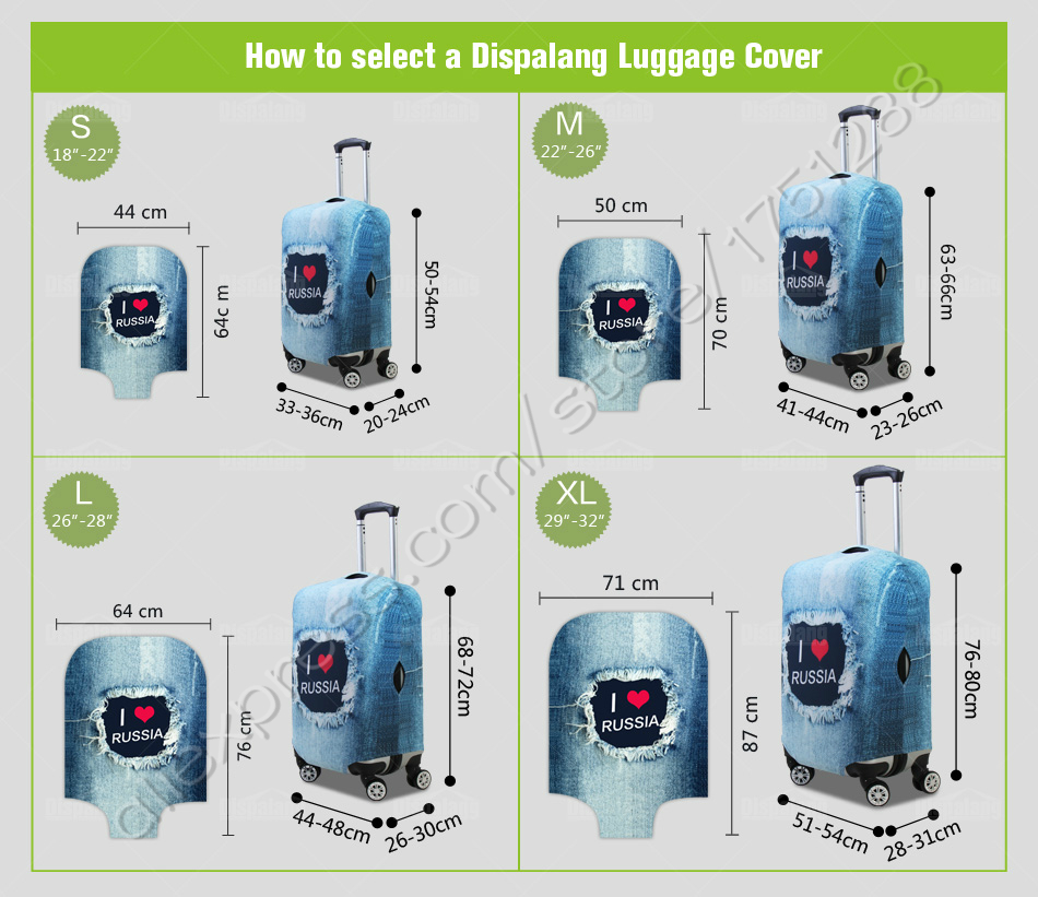 Cheap travel luggage protective cover