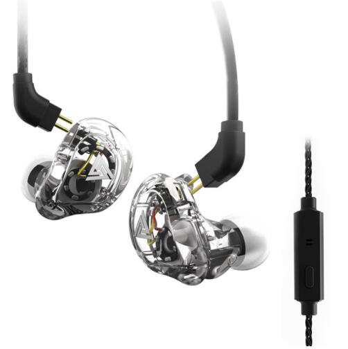 QKZ VK1 4DD In Ear Earphone HIFI DJ Monito Running Sport Earphone Hybrid Headset Bass Earbuds With Mic Replaced Cable