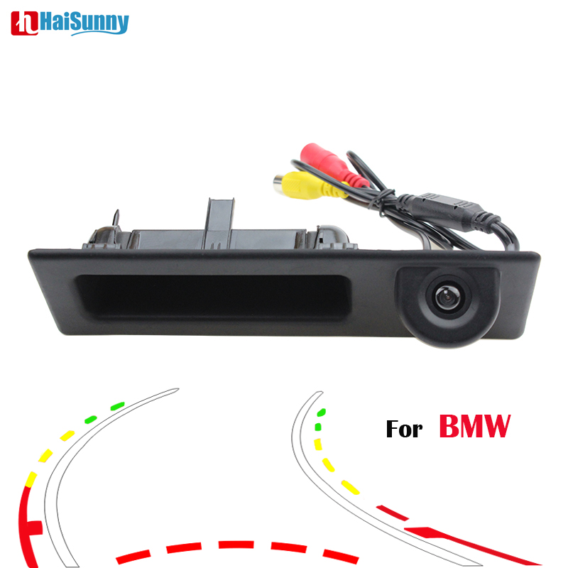 HaiSunny Car Rear View Camera With Intelligent Dynamic Trajectory Tracks For BMW F10 F11 F25 F30 BMW 3 Series 5 Series X3 аксессуар защитное стекло sony xperia m4 aqua solomon
