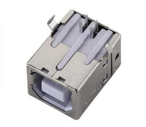 10pcs/lot USB B Type Female Socket Connector for Printer Socket Square Head Connector Data Interface