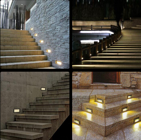 Waterproof (3*1)3W LED underground light lamps recessed buried floor lamp outdoor Landscape stair step wall lighting AC85-265V 2pcs lot 36w led round underground lamps buried lighting step light led led outdoor lamps led floor light 12v ac85 265v ip67