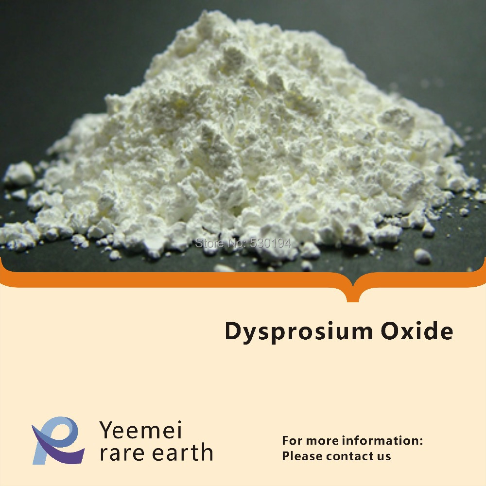 Dysprosium oxide- 99.9% - Dy2O3 rare earth metal oxide zinc oxide and manganese doped zinc oxide nanoparticles