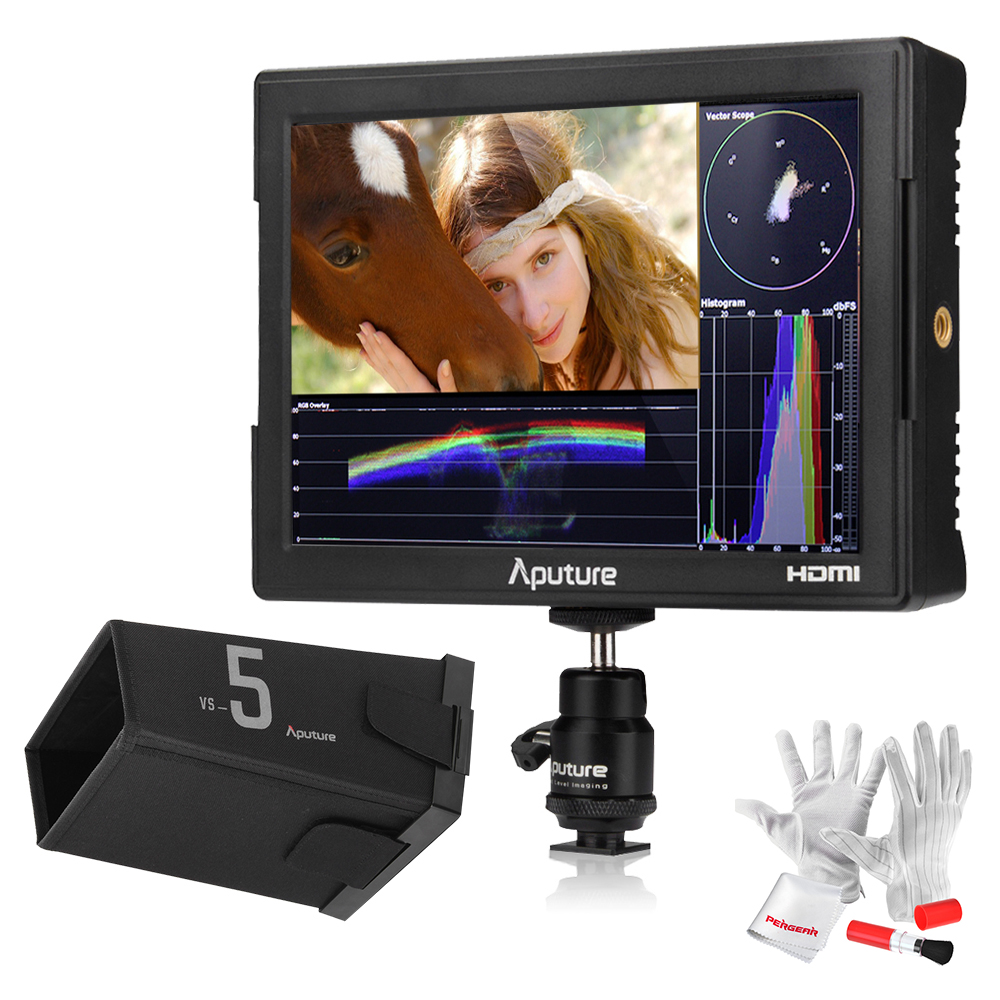 Aputure VS-5 7 Inch SDI HDMI Camera Field Monitor with RGB Waveform/Vectorscope/Histogram/Zebra/False Color to Better Monitor aputure vs 5 7 inch sdi hdmi camera field monitor with battery sun hood 11 magic arm rgb waveform vectorscope histogram zebra