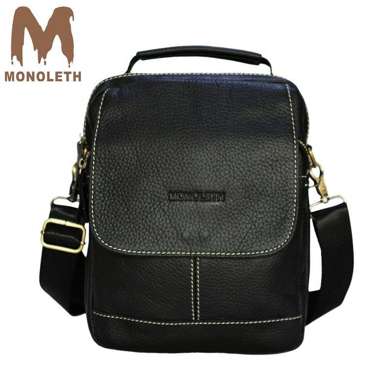 MONOLETH Shoulder Bags Satchel Genuine Leather Messenger Bags For Men Travel Business Handbag male Halloween /Christmas gift men and women bag genuine leather man crossbody shoulder handbag men business bags male messenger leather satchel for boys