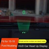 QHCP Автомобиль HUD безопасный привод дисплей Refkecting лобовое стекло голова вверх дисплей экран проектор наклейка подходит для Ford Mustang 2015 2018
