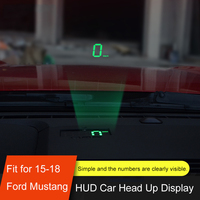QHCP Car HUD Safe Drive Display Refkecting Windshield Head Up Display Screen Projector Sticker Fit For Ford Mustang 2015 2019