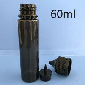 Image 4 - 50 Stuks 30 Ml/60 Ml/100 Ml/120 Ml Lege Zwarte Pet E Sapfles Vape druppelaar Flessen Kindveilige Dop Vloeibare Sigaret Olie Vullen Containers
