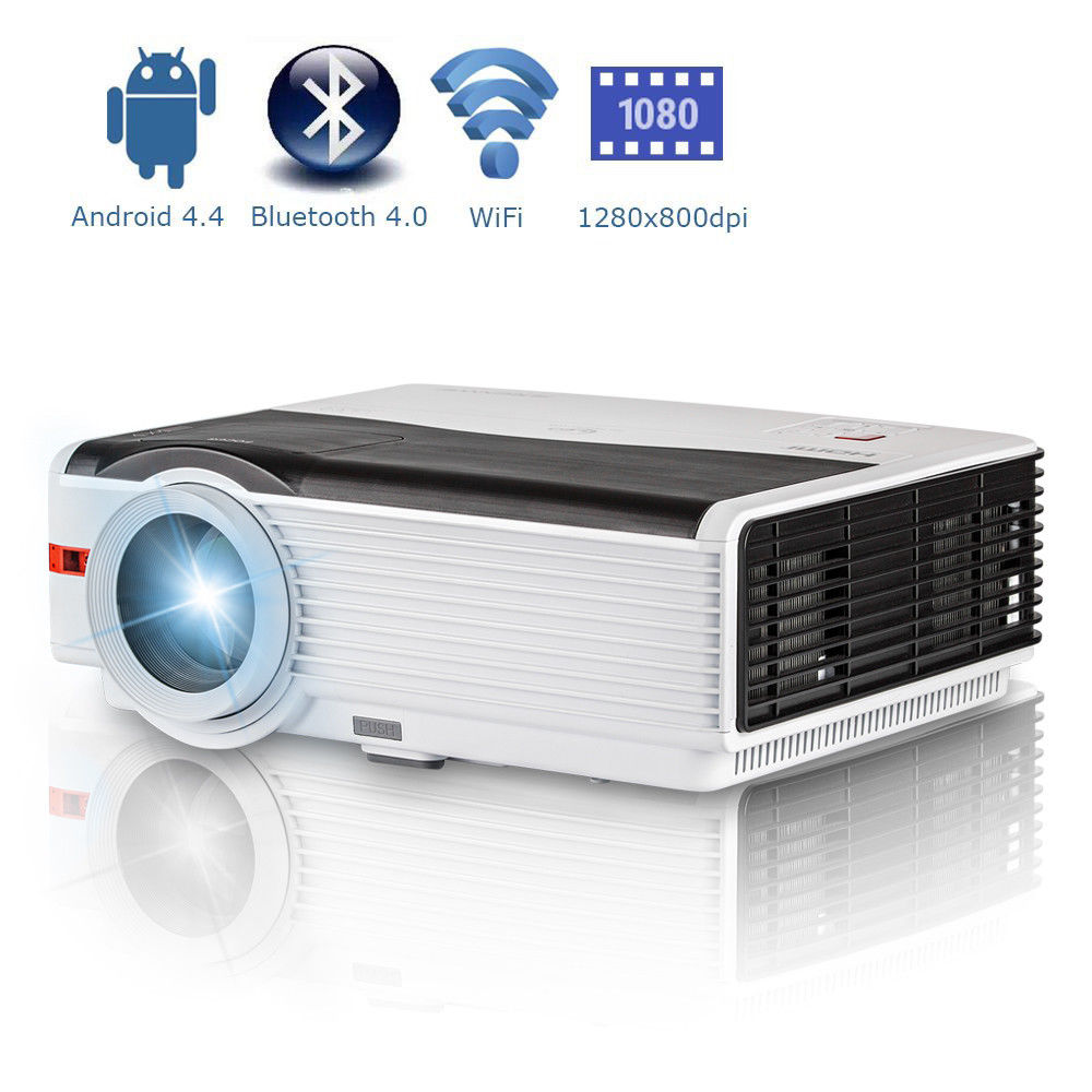 CAIWEI Home 1080p LED Movie Projector For Video Games TV Beamer Project Home Theatre Cinema Bluetooth HDMI VGA AV USB wholesale free shipping gm50 mini blh projector home theater blh projector for video games tv movie support hdmi vga av portable