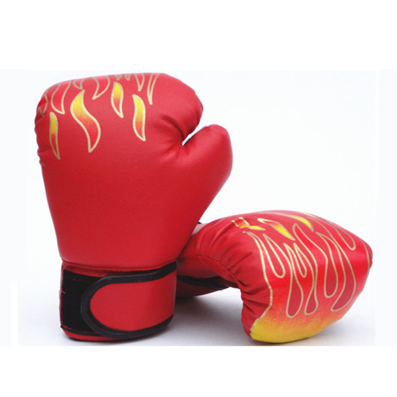 3-12Years Children Boxing Gloves MMA Karate UFC Guantes De boxeo Kick Boxing Luva De Boxe Boxing Equipment Flame boxing set
