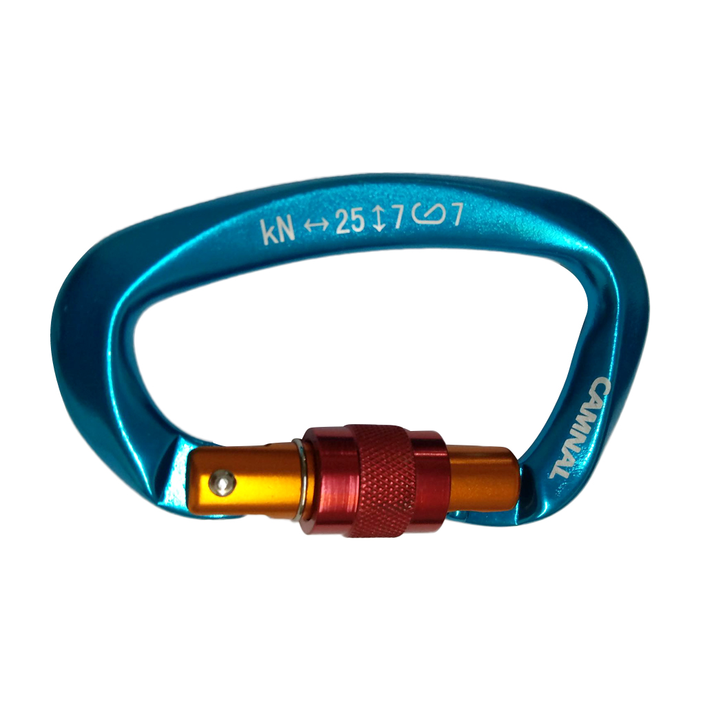 25KN D-ring Screw Locking Safety Rock Outdoor Climbing Carabiner  Clip Rappelling Rescue Caving Equipment Climbing  Tool