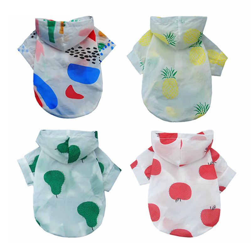 Hot Sale Summer Protection Clothing For Small Dogs Cute Raincoat Dog
