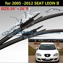 "2 шт./лот SG-004 стеклоочистителей для 2005-2012 SEAT LEON II MK2 2""+ 26"" R щетки стеклоочистителя типа рычаги стеклоочистителя только"
