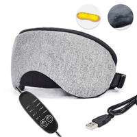 USBPortable 3D Sleep Eye Mask Cover Aid Sleep Blindfold USB Heated Cotton Surface Eye Mask For Sleep SPA Soft Adjustable Bandage
