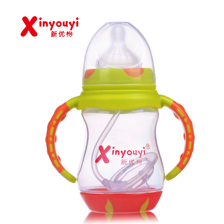 Newborn Baby Bottle Milk Bottle pp Automatic Temperature-sensitive High Temperature Food Grade pp Bottle Wide mouth bottle 210ml ...