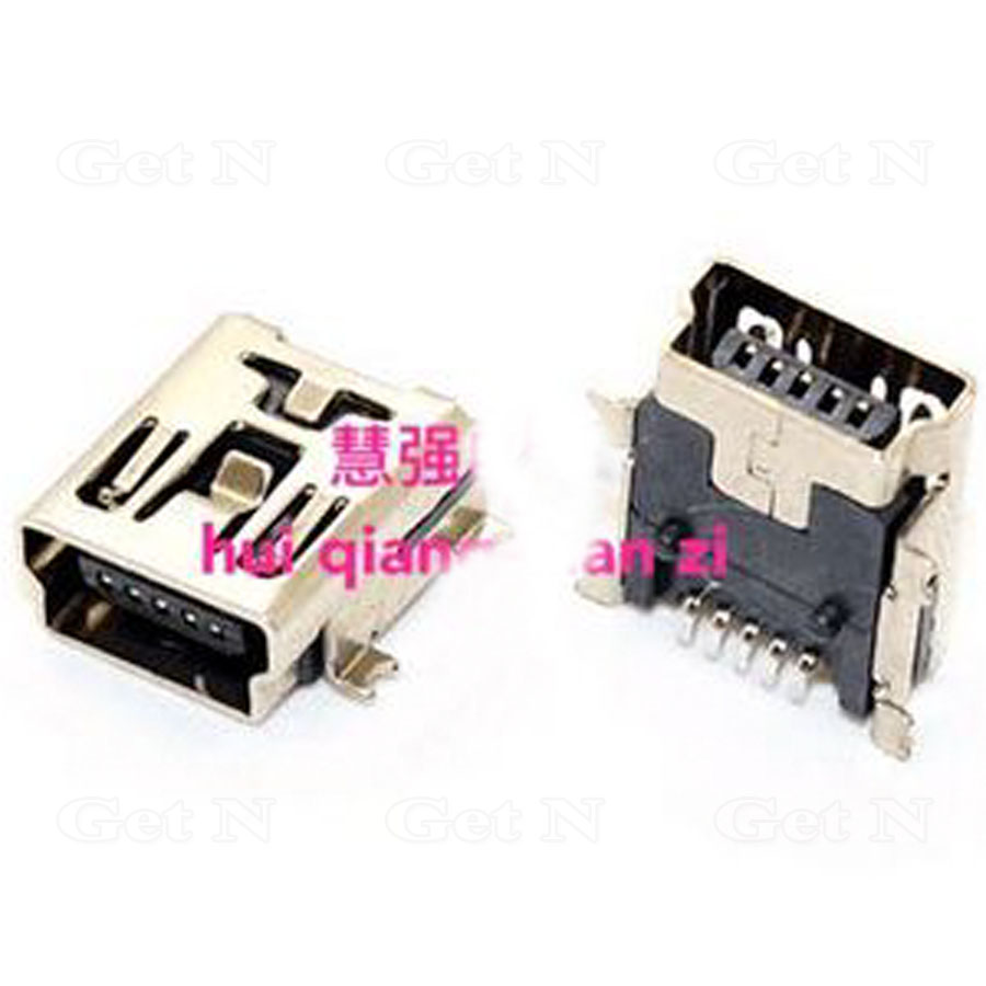 1000pcs/lot T shaped 5 pin Mini USB Receptacle Socket Port SMT for Media Players-in Connectors from Lights & Lighting    1
