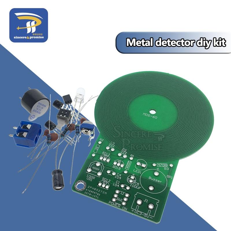 DIY Kit Metal Detector Kit Electronic Kit DC 3V-5V 60mm Non-contact Sensor Board Module DIY Electronic Part Metal Detector(China)
