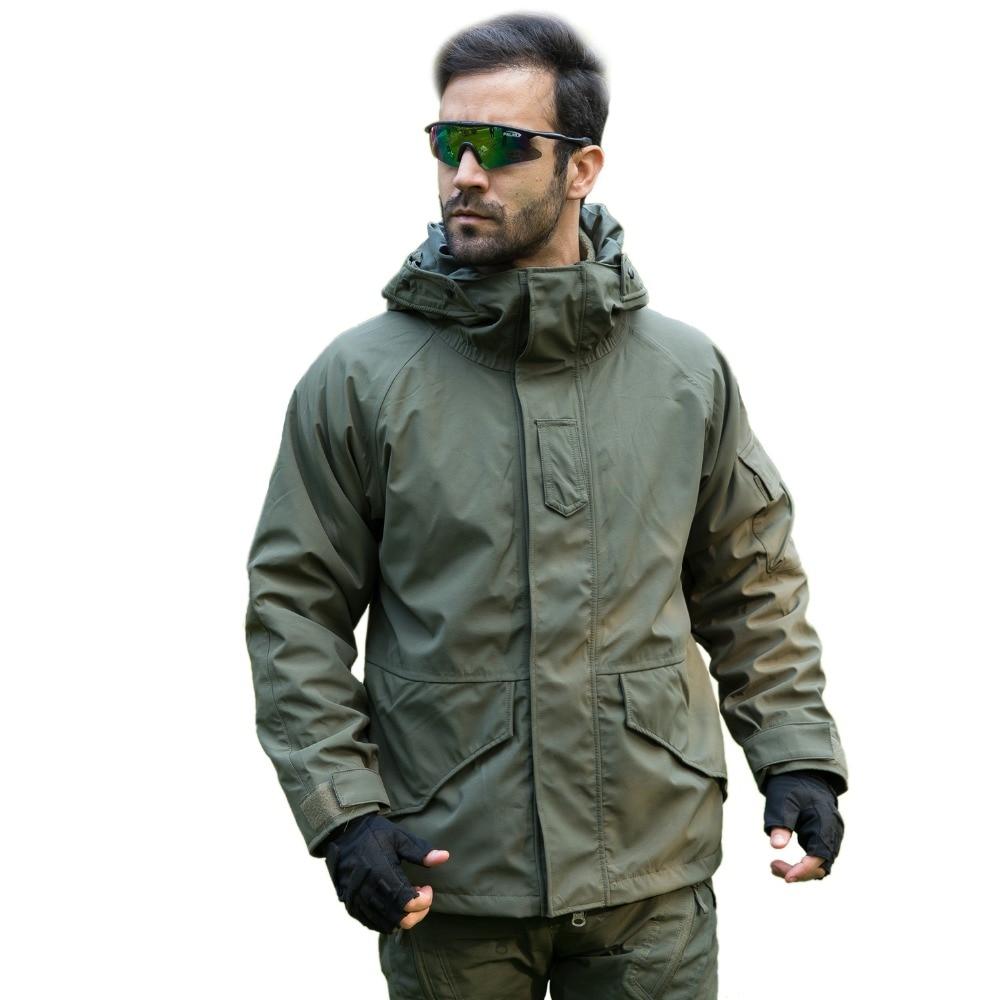 Be A Wolf Men's Camping Hiking Jackets Softshell Camouflage Hunting Jacket Men Winter Inner Fleece Waterproof Jacket Coat G8