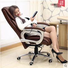 Genuine Leather b-oss chair , o-ffice chair with Electric Massage function ,Mr.s chair ,(China)