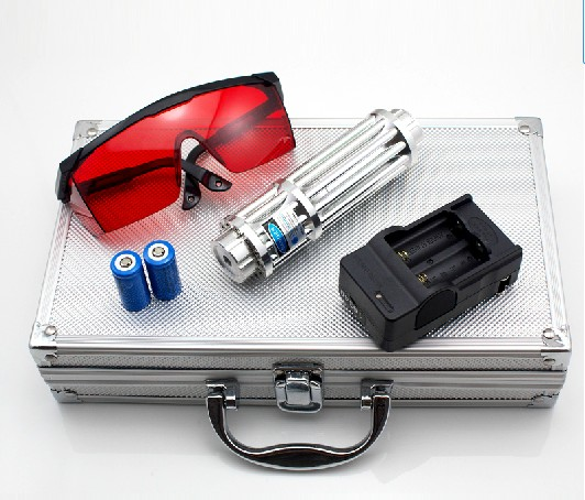 AAA Super Powerful 10000m 10w 5in1 450nm Blue Laser Pointer Flashlight Burn Match Candle Lit Cigarette Wicked Lazer+Gift Box 100000mw 5in1 strong military blue laser pointer flashlight burn match candle lit cigarette wicked lazer torch 100watt glasses
