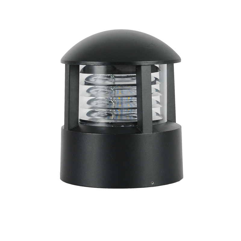 E27 15 W aluminium étanche extérieur pilier lampe avant porte clôture cour colonne lumières paysage