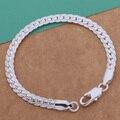silver plated Fashion snake 6 mm Width bracelet/bangle Jewelry trendy men women bracelets