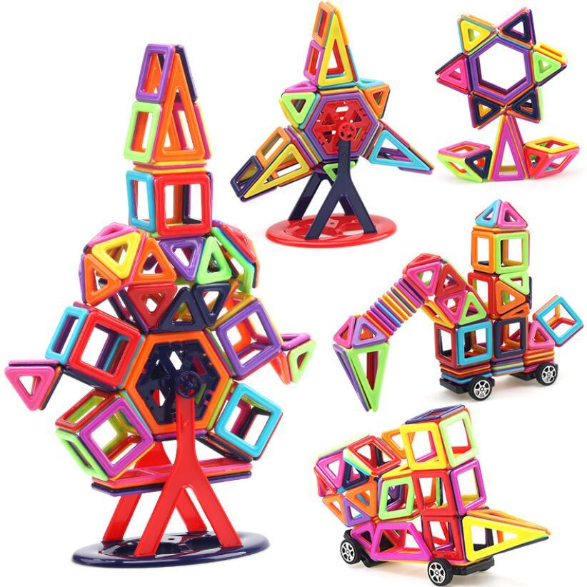 40 шт. ~ 166 шт. Мини Магнитный конструктор construction set модель и строительство игрушки Пластик Магнитная Конструкторы образования Игрушечные лошадки для подарок для детей