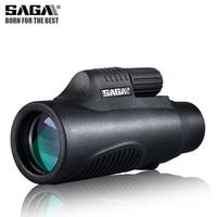 SAGA BAK4 8x32 10x42 Monocular Telescope HD Mini Monocular Outdoor Hunting Camping Scopes Phone