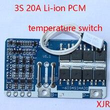 3 S 20A LiPo литий-полимерный БМС/PCM/PCB Батарея защиты доска для 3 пакетов 18650 литий-ионный Батарея ячейки w/переключатель температуры