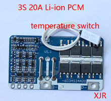3S 20A  lipo lithium Polymer BMS/PCM/PCB battery protection board for 3 Packs 18650 Li ion Battery Cell w/temperature switch