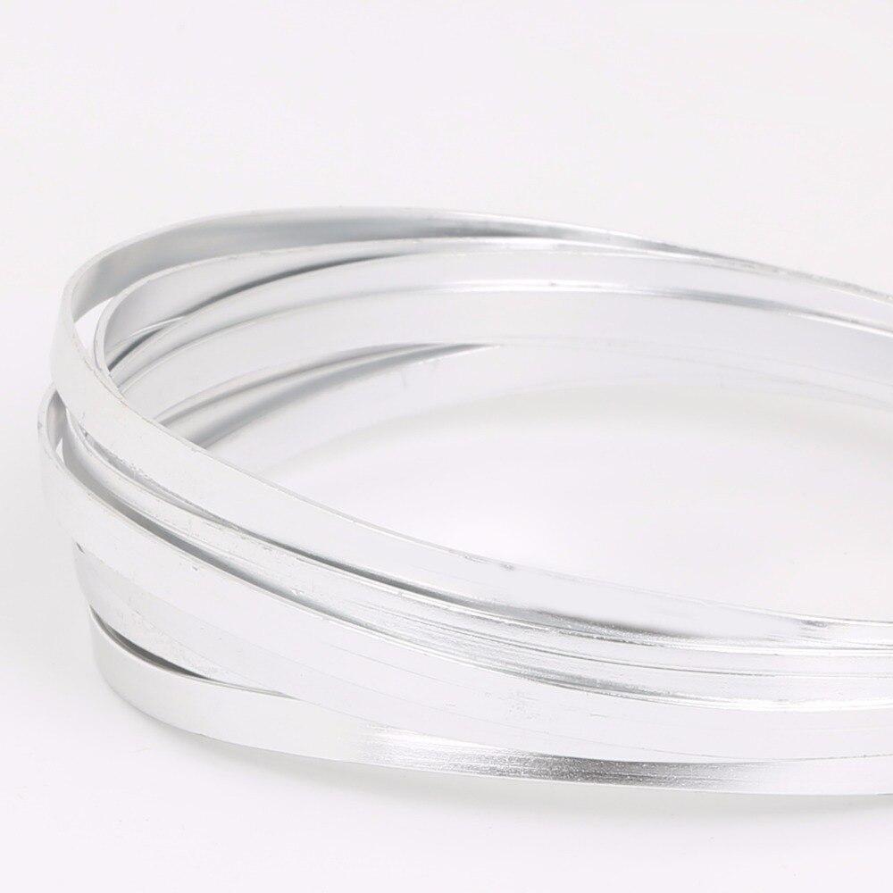 Fashion Design different colors 5X1mm Flat Aluminum Wire,Soft Metal ...