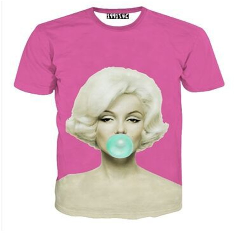 69872b4a3088 Tupac Shirt Fashion Marilyn Monroe Aaliyah Print Short Sleeve 3D T shirt  Women Men Harjuku Camisas Tee Shirts Funny O neck Tops-in T-Shirts from  Men s ...