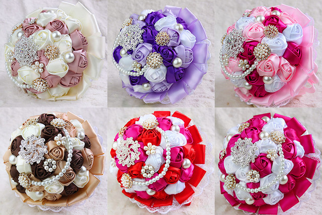 2017The latest fashion flowers and the bride's bouquet of pearls XF01