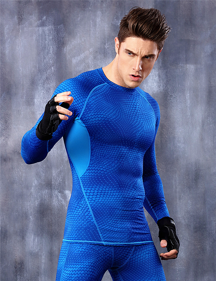 Long Sleeve t shirt men Sport jogges Bicycle Fitness Crossfit Shirt Tights Fitness Men Moisture Wicking Quick-drying Tops Tees