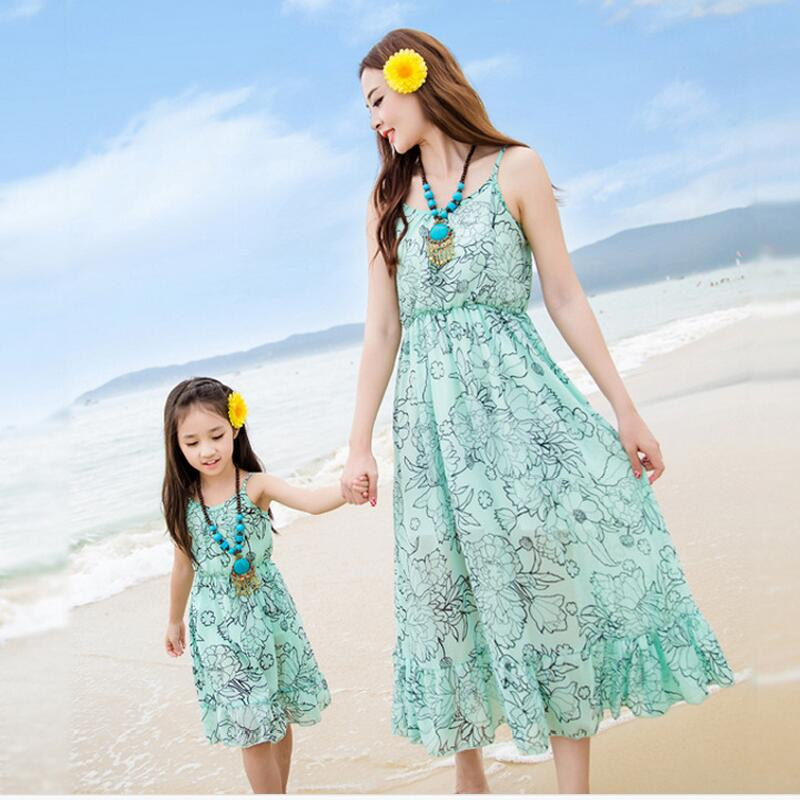5834844be summer 2017 mother daughter dresses family look girl and mother maxi ...