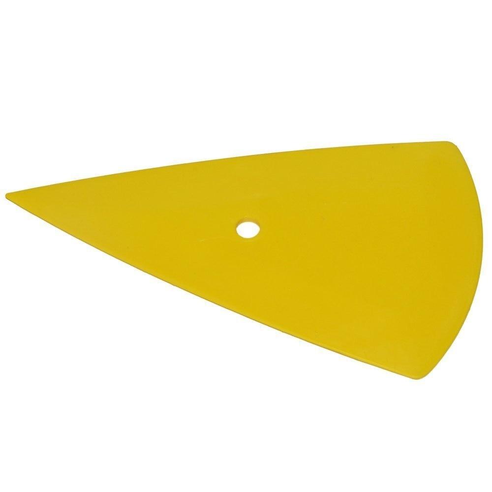 EHDIS Gelbes Dreieck Rakel Auto Vinyl Film Aufkleber Wrapping Tool Fensterglas Sauber Rakel Schaber Fahrzeuge Aufkleber Werkzeuge A29