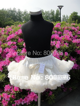 Girl's Fashion Baby Tutu Skirt White Bow of girls clothes Children Clothing of skirts PETS-037